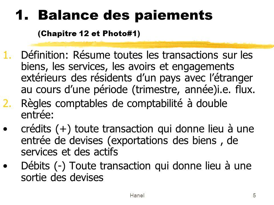 Balance des paiements (Chapitre 12 et Photo#1)