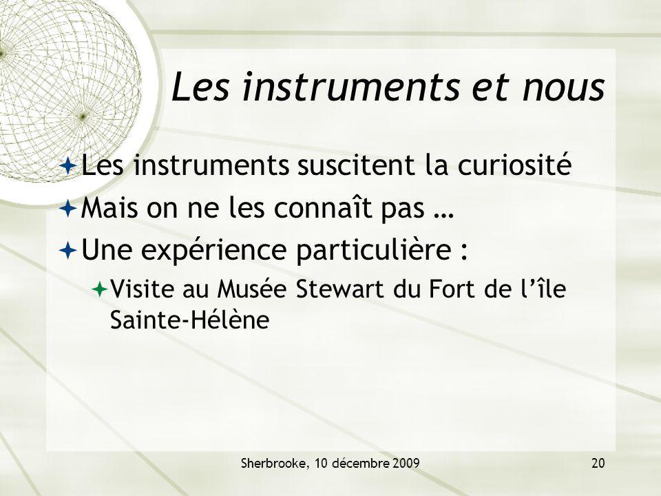 Les instruments et nous