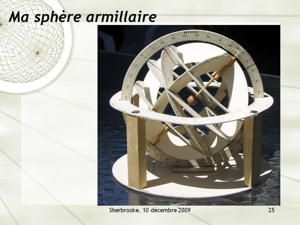 Ma sphère armillaire Sherbrooke, 10 décembre 2009