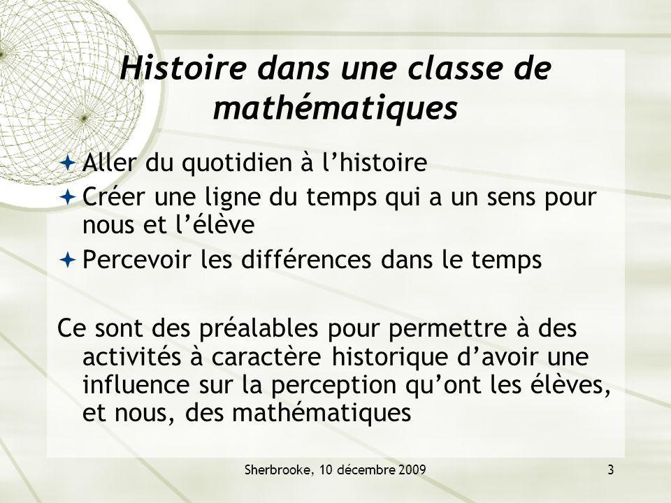Histoire dans une classe de mathématiques