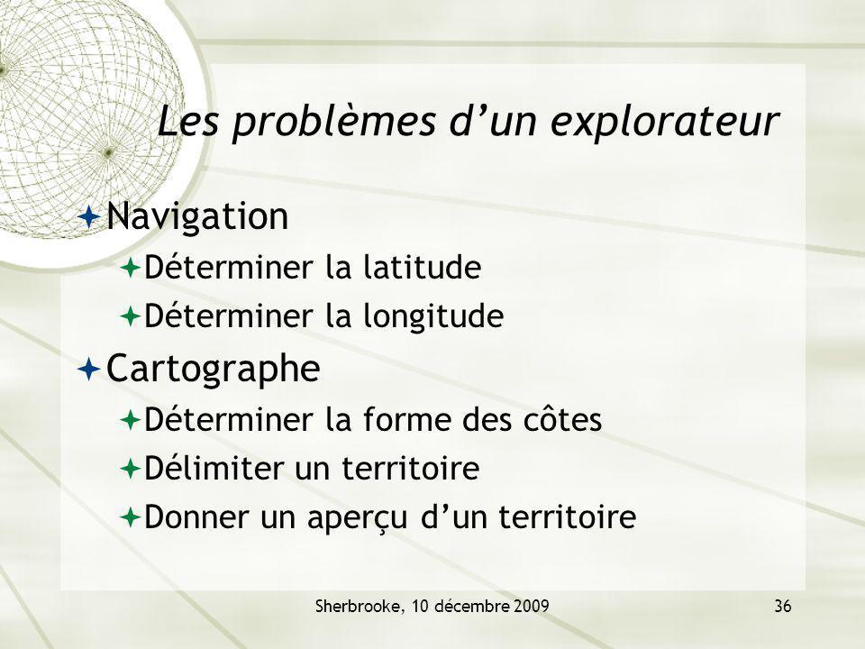 Les problèmes d'un explorateur