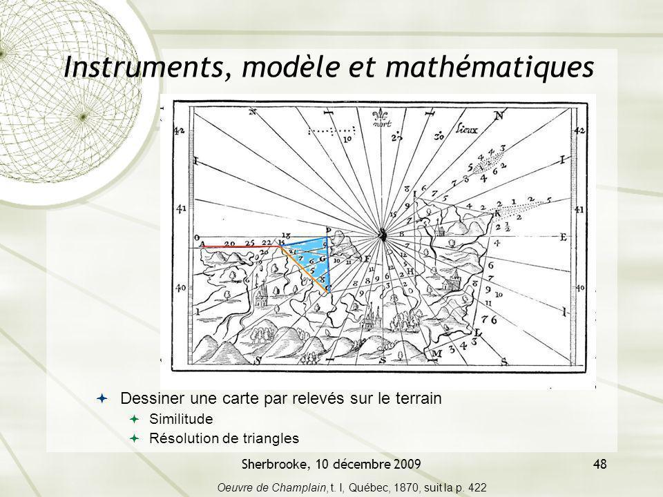 Instruments, modèle et mathématiques