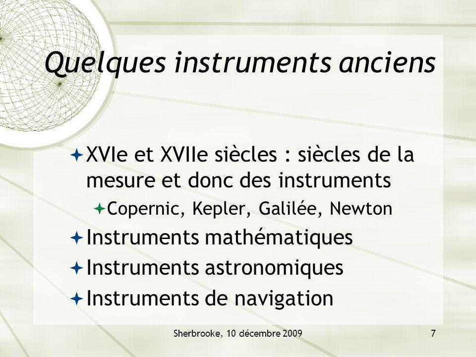 Quelques instruments anciens