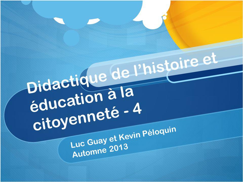Didactique de l'histoire et éducation à la citoyenneté - 4