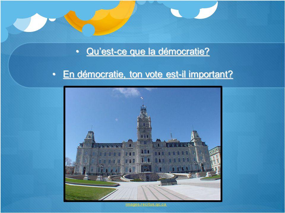 Qu'est-ce que la démocratie En démocratie, ton vote est-il important