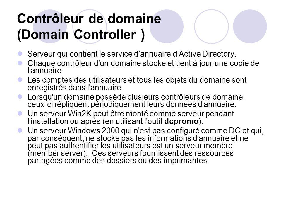 Contrôleur de domaine (Domain Controller )