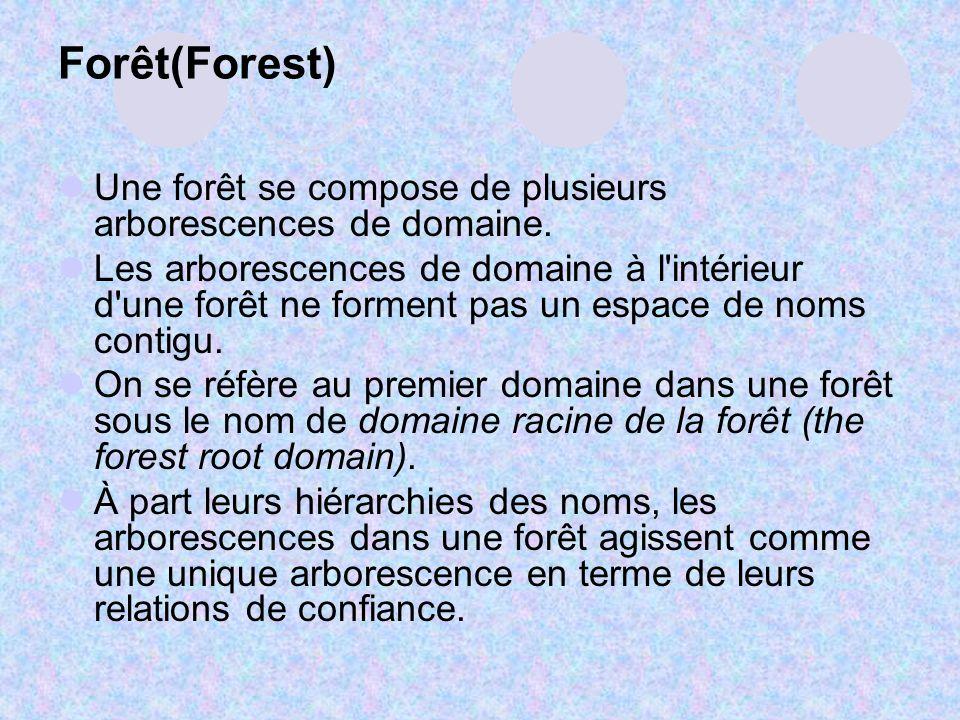 Forêt(Forest) Une forêt se compose de plusieurs arborescences de domaine.