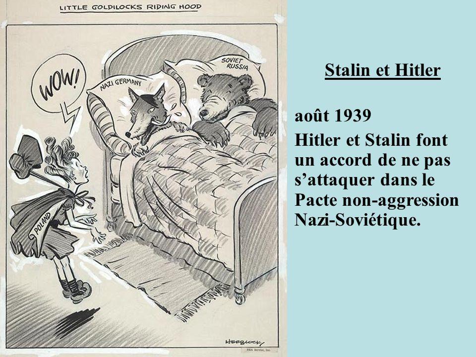 Stalin et Hitler août 1939.
