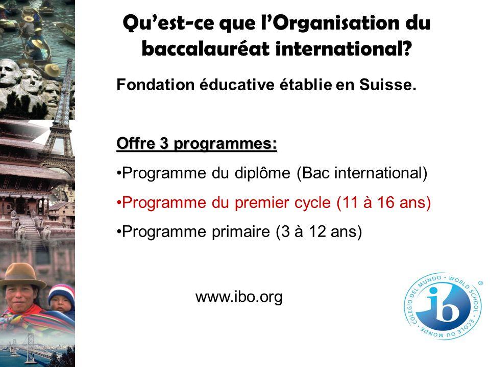 Qu'est-ce que l'Organisation du baccalauréat international