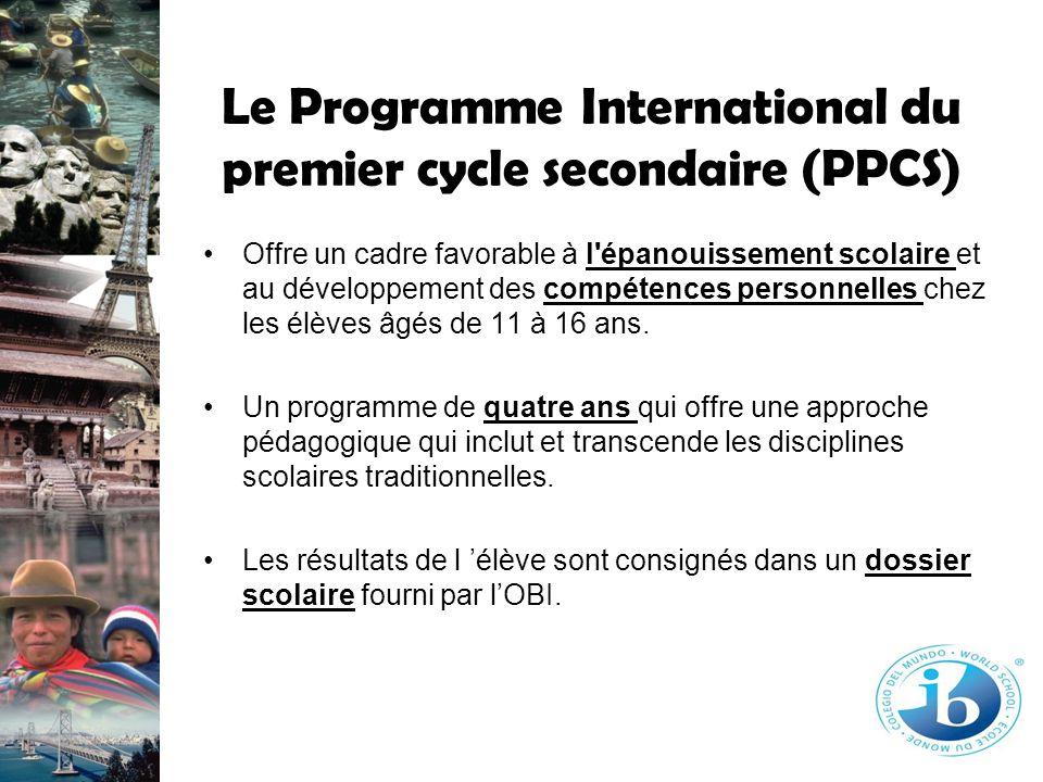 Le Programme International du premier cycle secondaire (PPCS)
