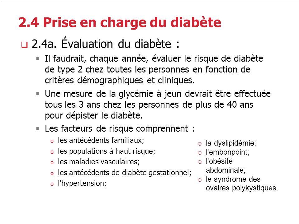 2.4 Prise en charge du diabète
