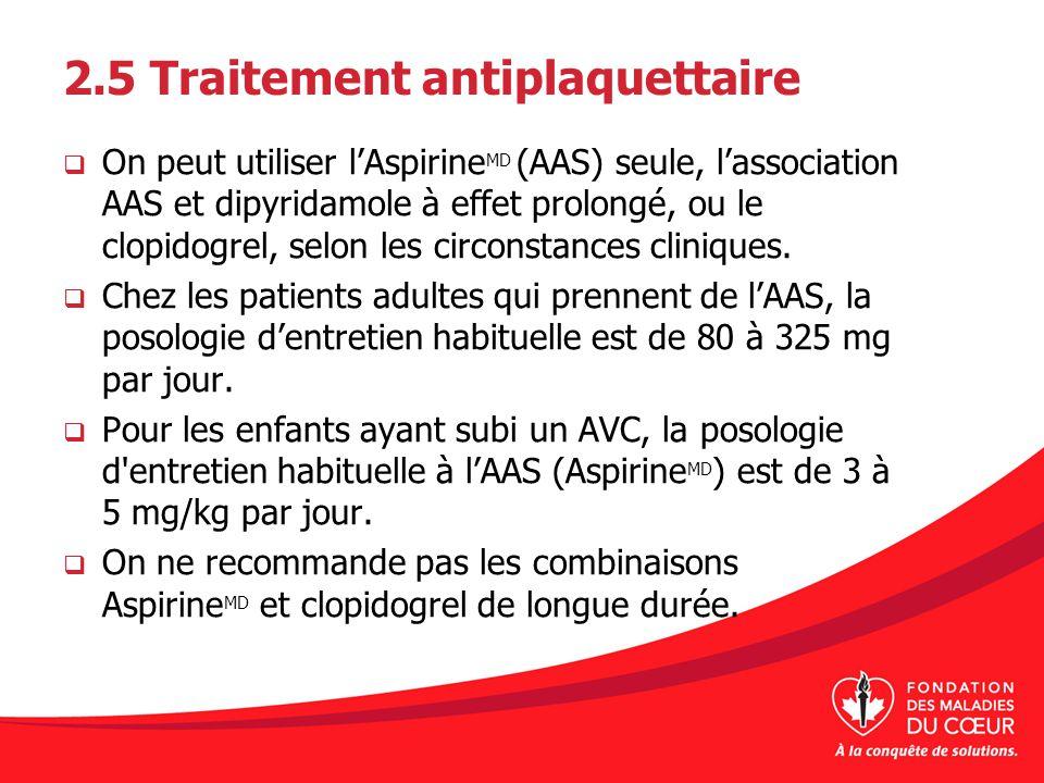 2.5 Traitement antiplaquettaire