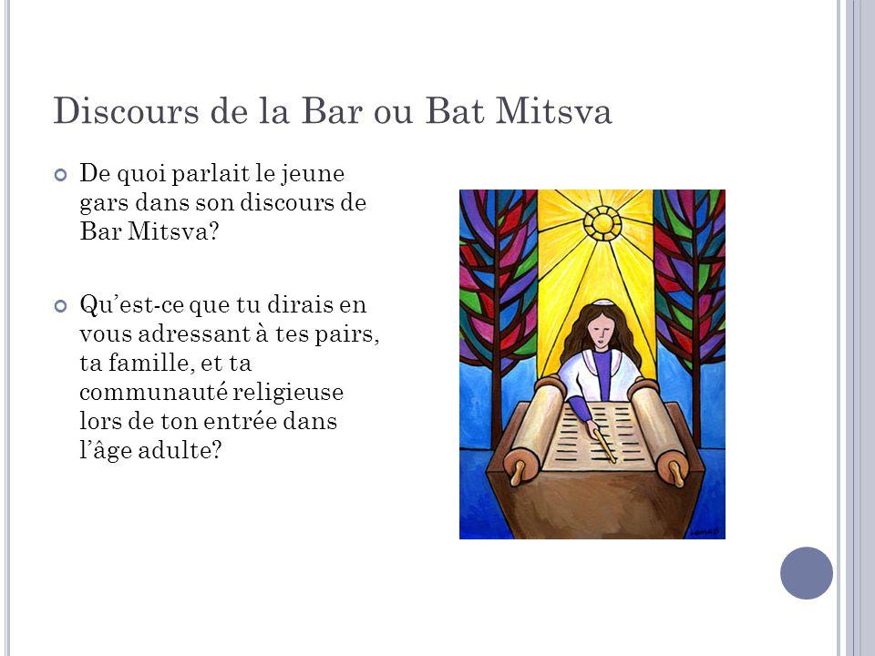 Discours de la Bar ou Bat Mitsva