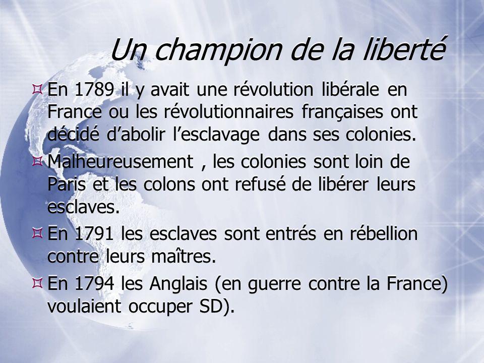 Un champion de la liberté