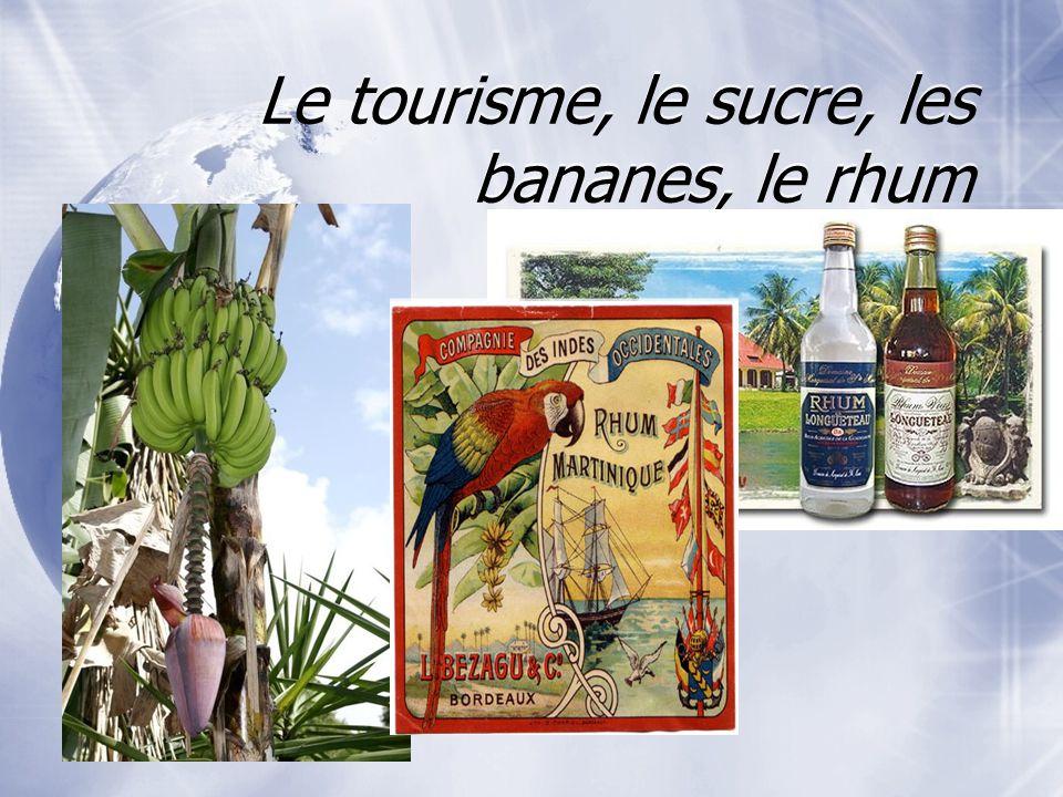 Le tourisme, le sucre, les bananes, le rhum