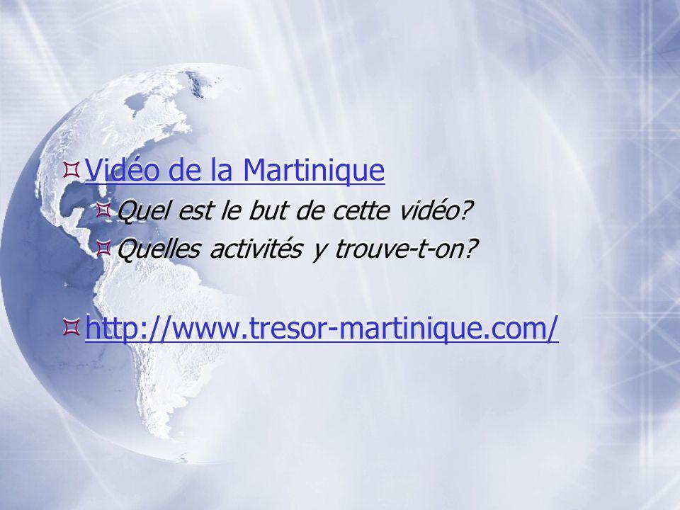 Vidéo de la Martinique http://www.tresor-martinique.com/