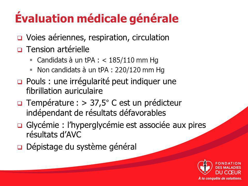 Évaluation médicale générale