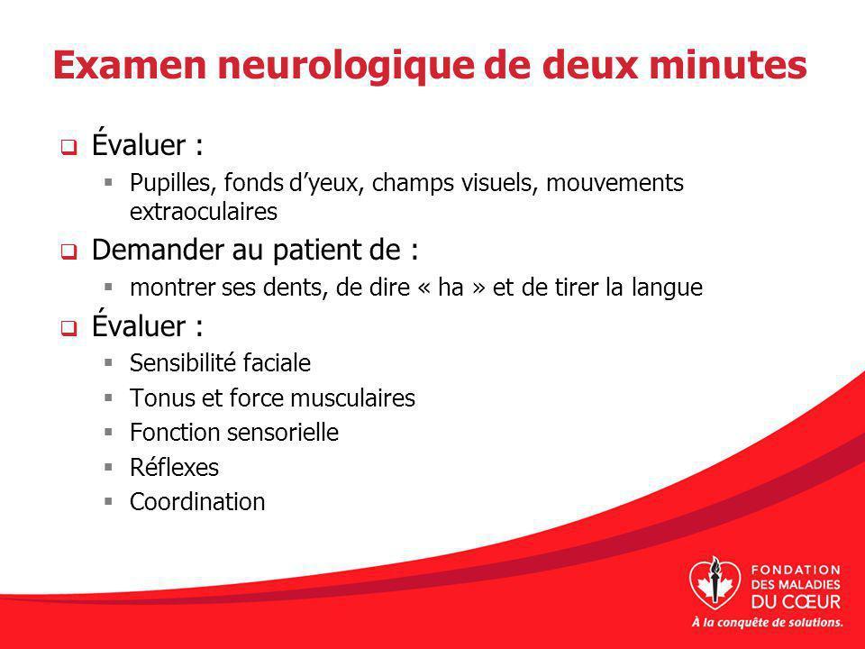 Examen neurologique de deux minutes