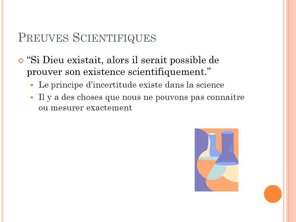 Preuves Scientifiques