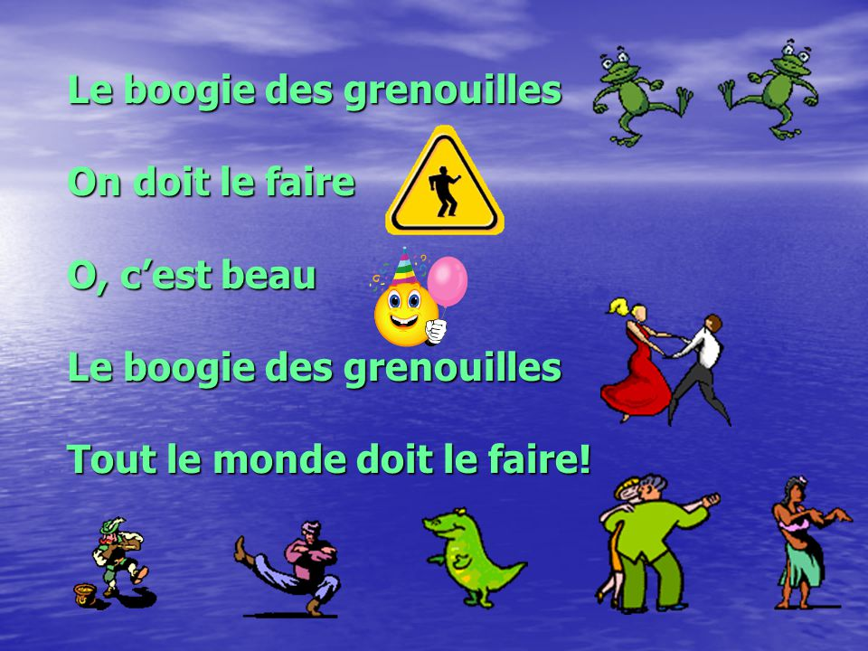 Le boogie des grenouilles