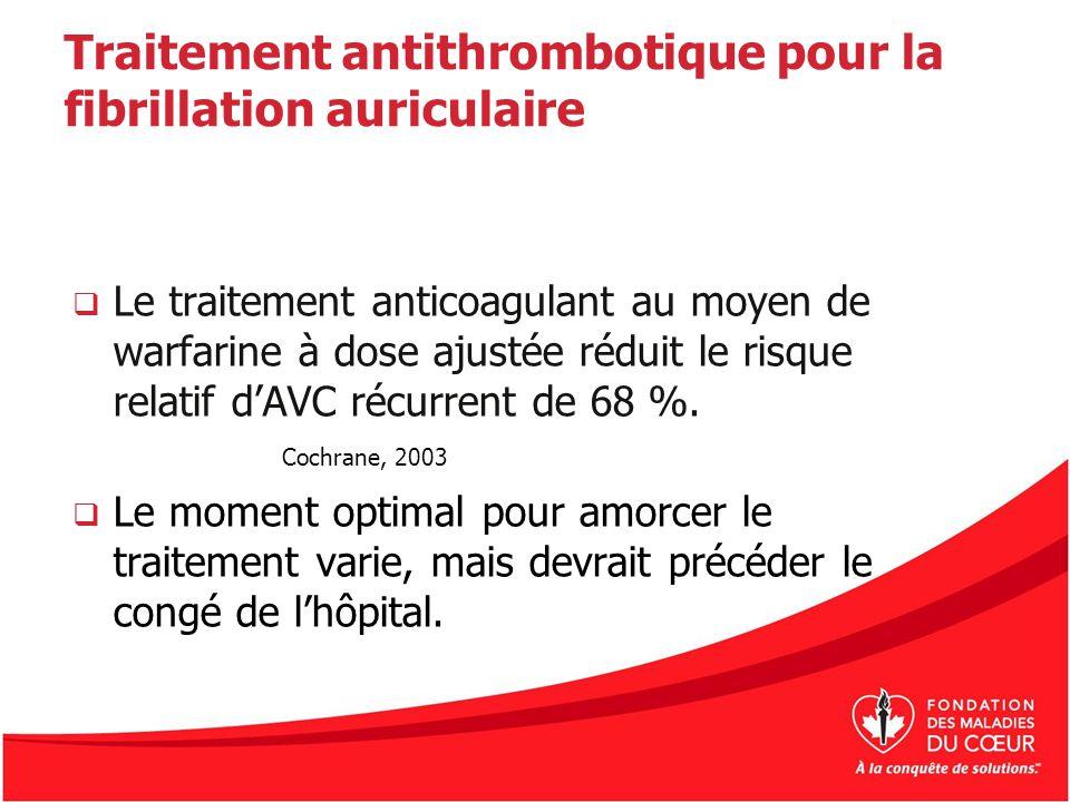 Traitement antithrombotique pour la fibrillation auriculaire