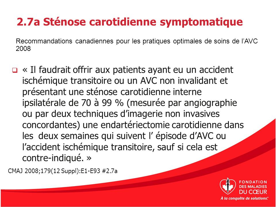 2.7a Sténose carotidienne symptomatique