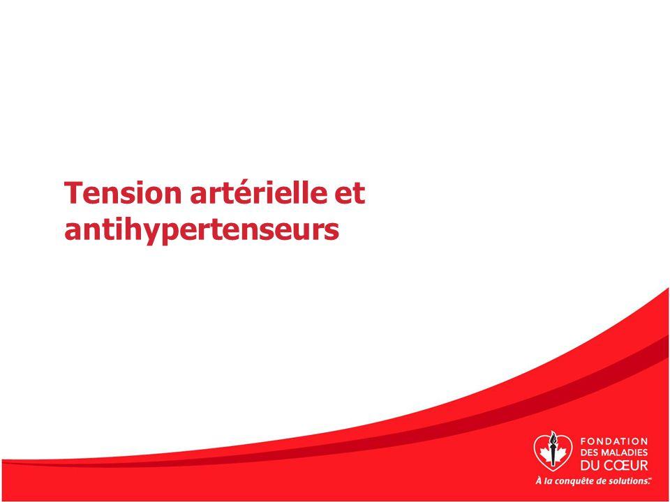 Tension artérielle et antihypertenseurs