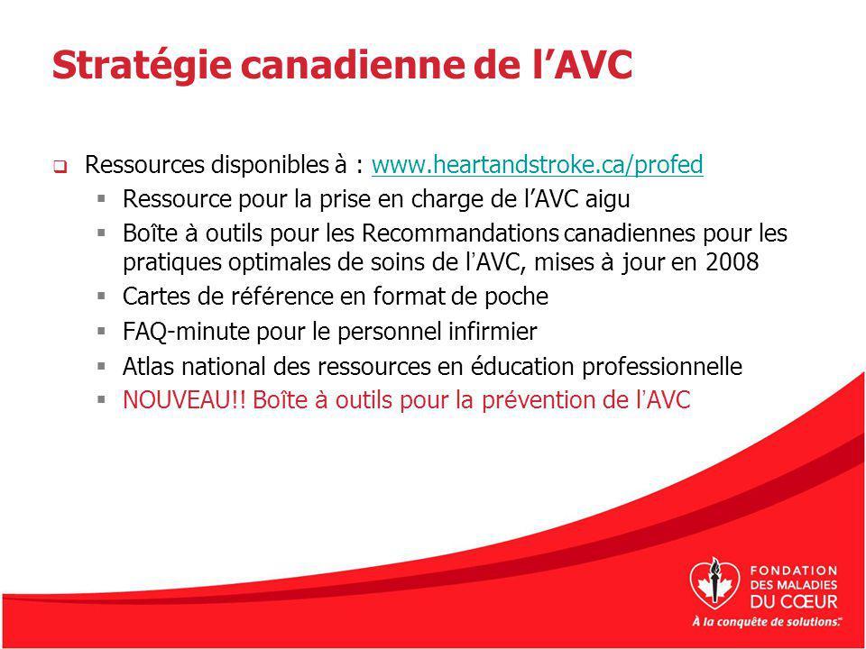 Stratégie canadienne de l'AVC