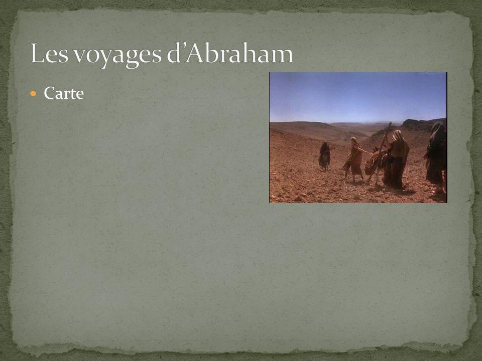 Les voyages d'Abraham Carte