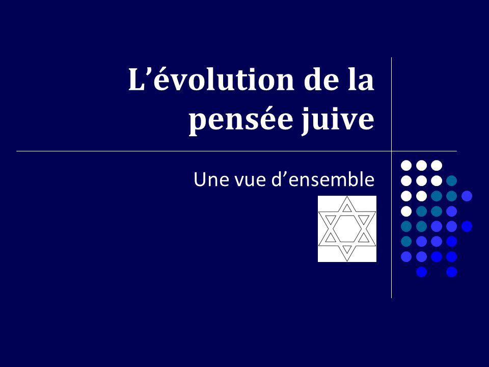 L'évolution de la pensée juive