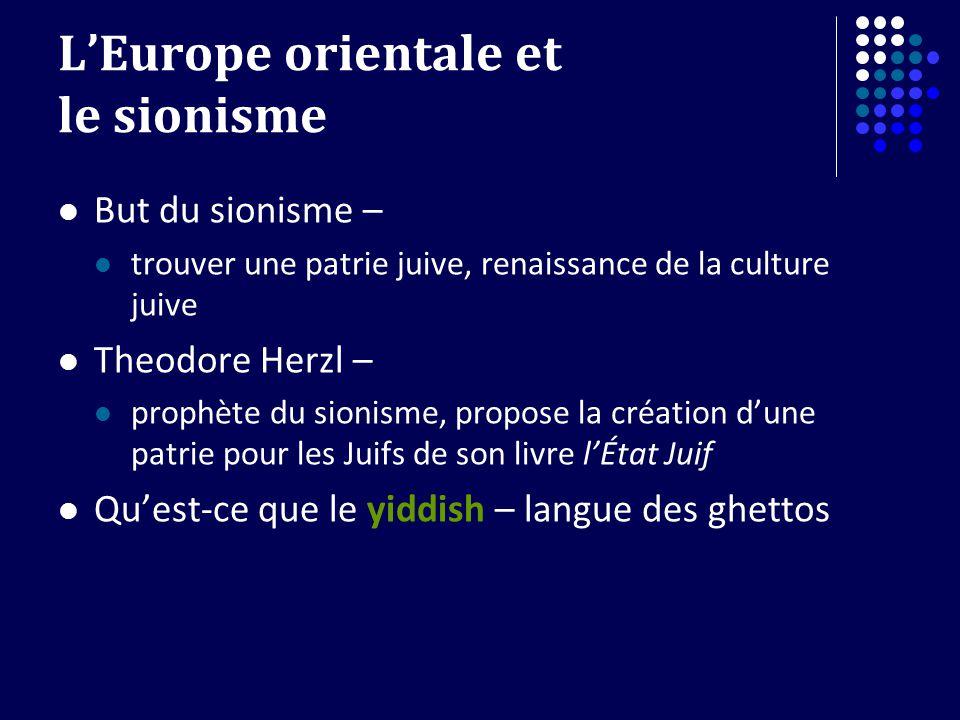 L'Europe orientale et le sionisme