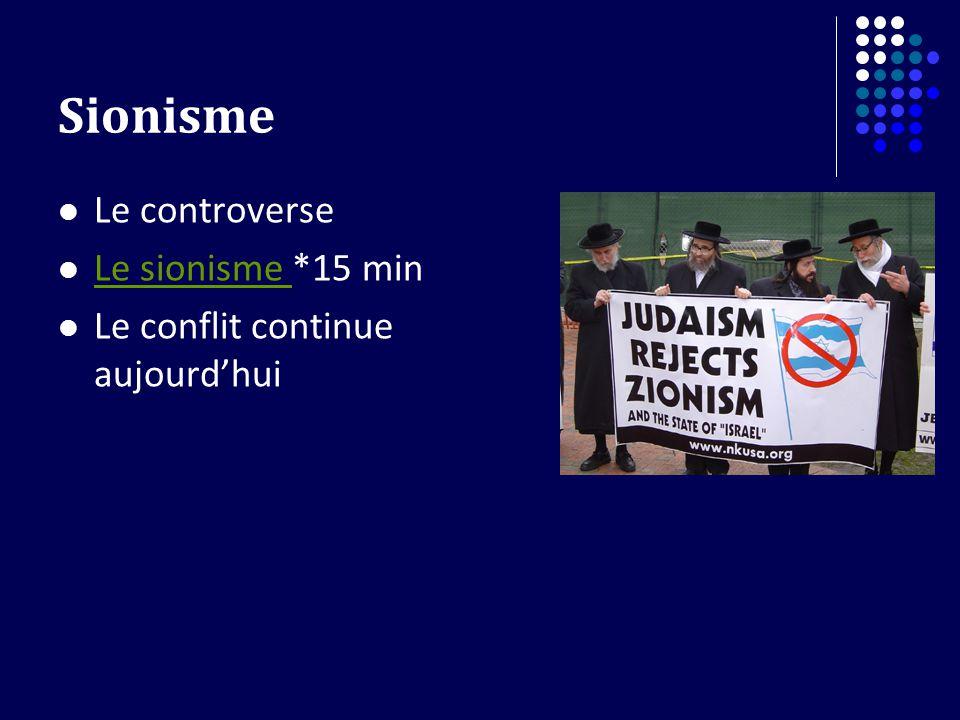 Sionisme Le controverse Le sionisme *15 min