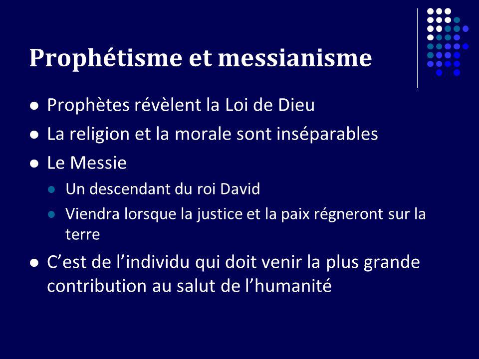 Prophétisme et messianisme
