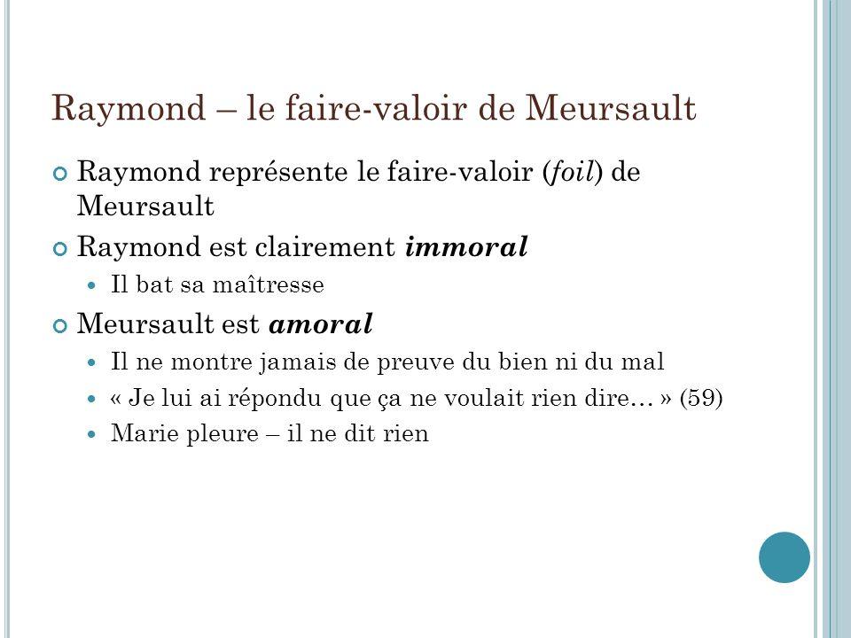 Raymond – le faire-valoir de Meursault