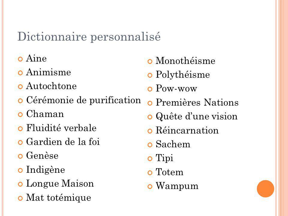 Dictionnaire personnalisé