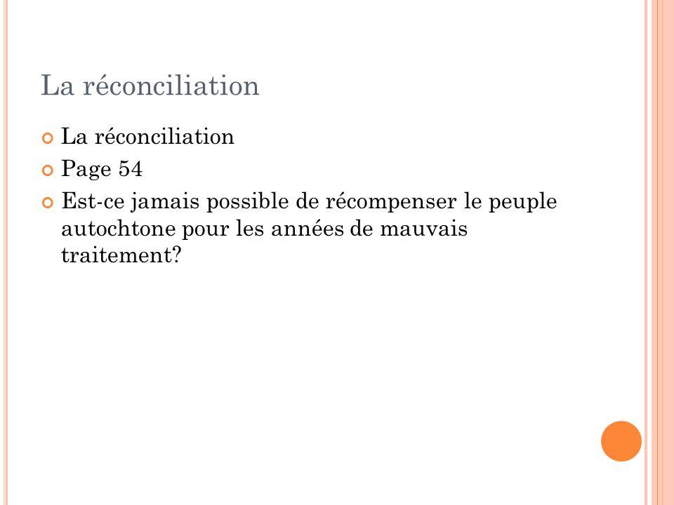 La réconciliation La réconciliation Page 54