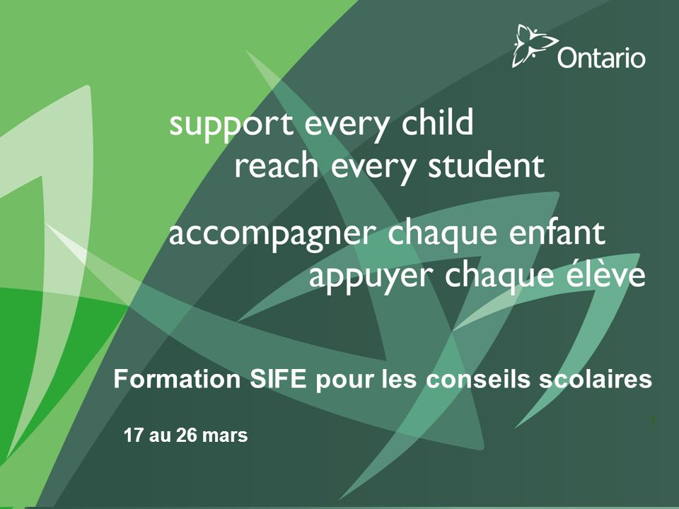 Formation SIFE pour les conseils scolaires