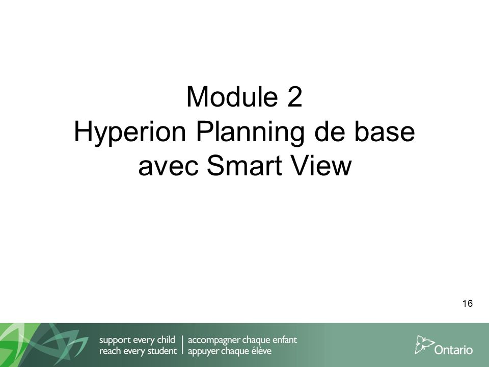 Module 2 Hyperion Planning de base avec Smart View