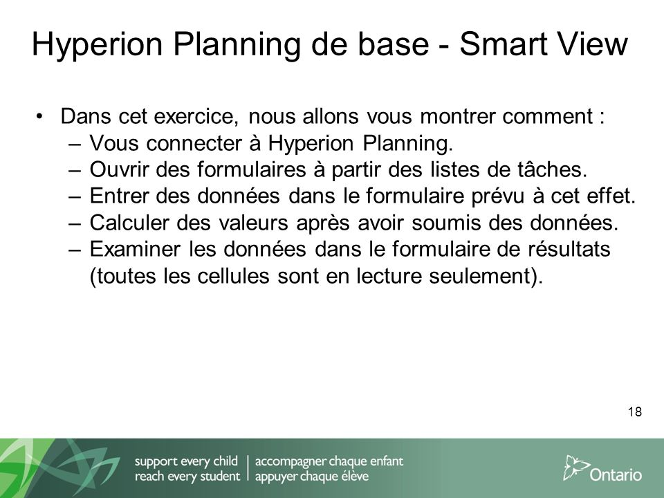 Hyperion Planning de base - Smart View