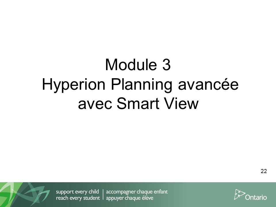 Module 3 Hyperion Planning avancée avec Smart View