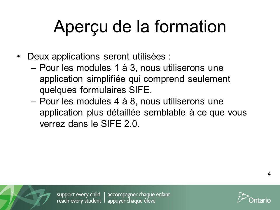Aperçu de la formation Deux applications seront utilisées :