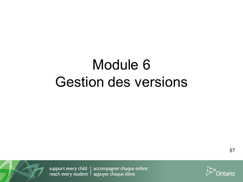 Module 6 Gestion des versions