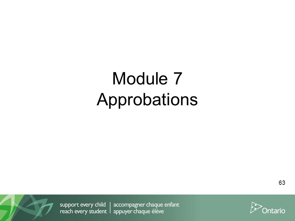 Module 7 Approbations