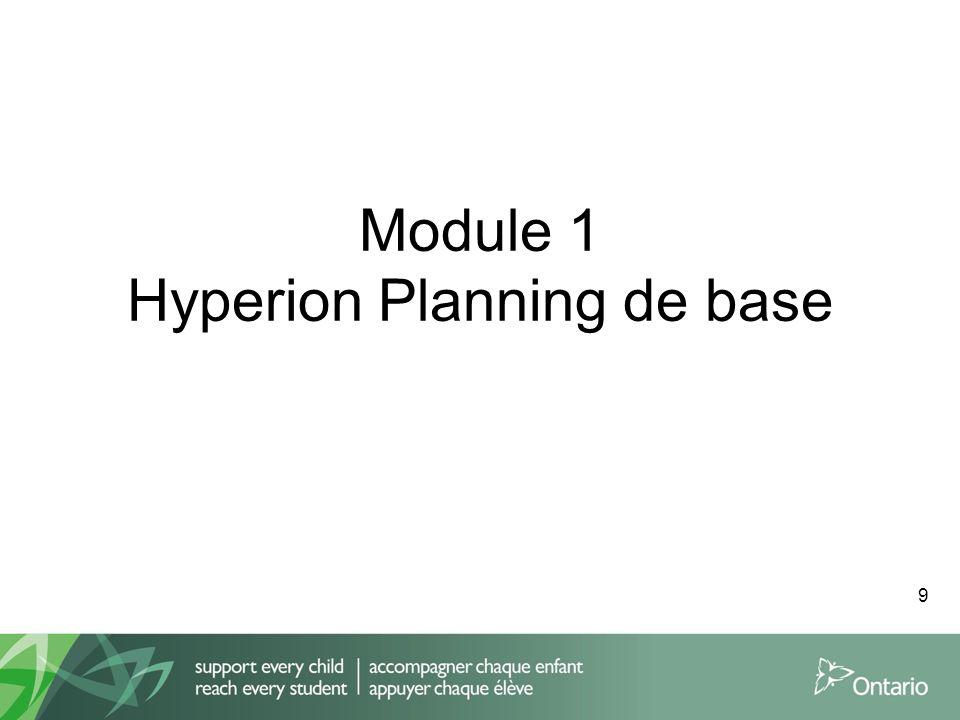Module 1 Hyperion Planning de base