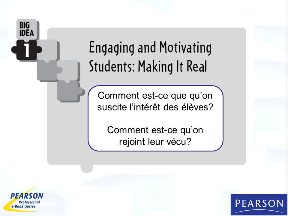 Comment est-ce que qu'on suscite l'intérêt des élèves