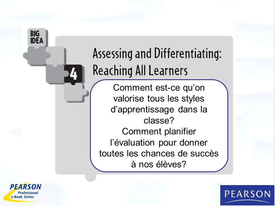 Comment est-ce qu'on valorise tous les styles d'apprentissage dans la classe