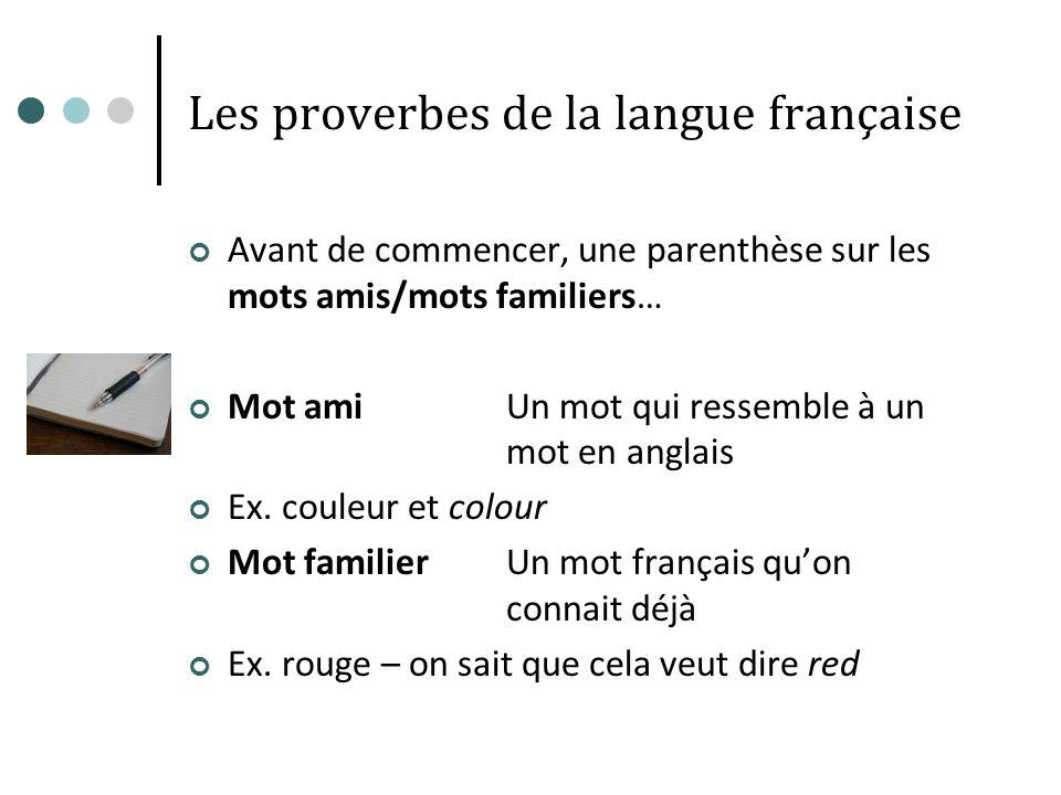 Les proverbes de la langue française