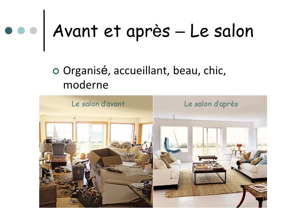 Avant et après – Le salon