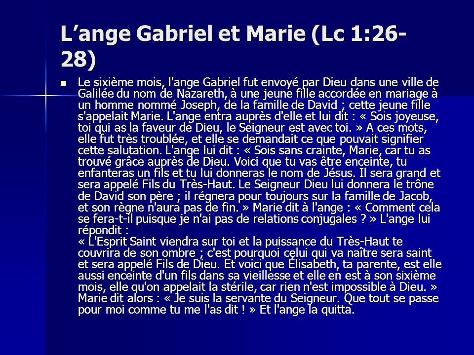 L'ange Gabriel et Marie (Lc 1:26-28)