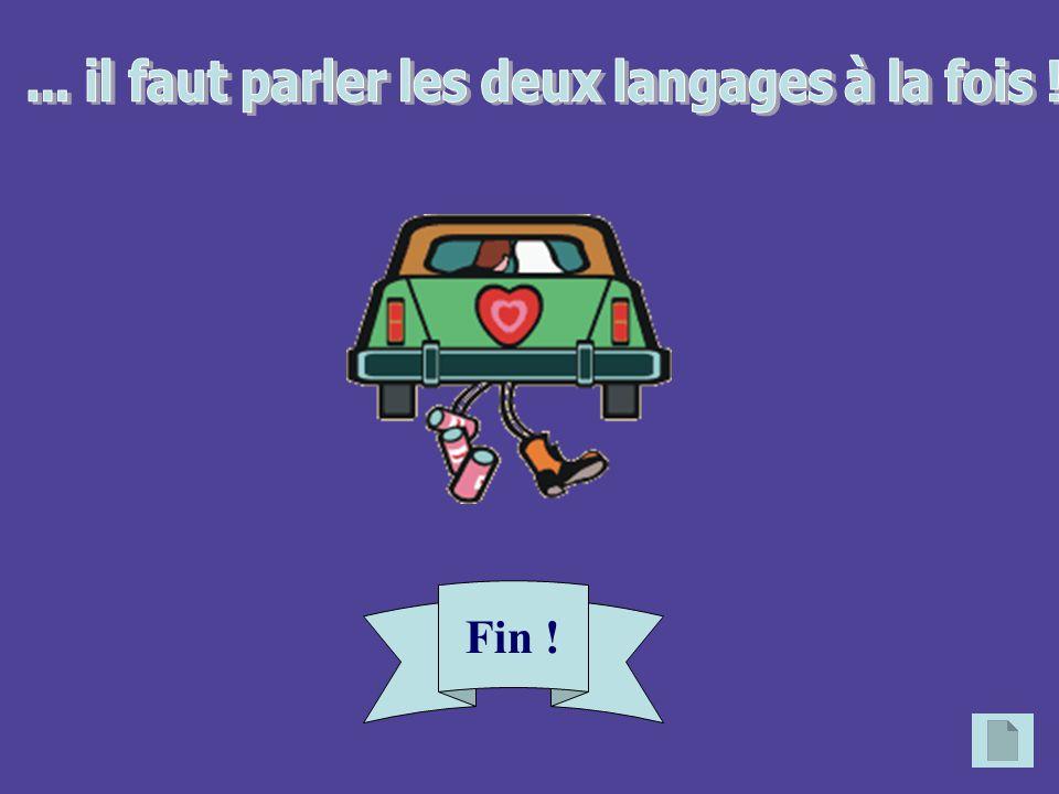 ... il faut parler les deux langages à la fois !